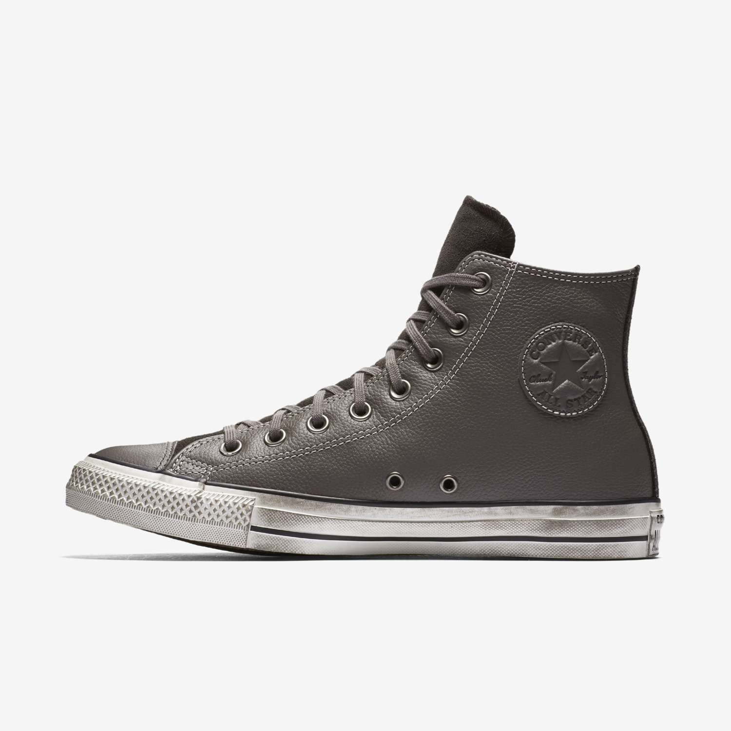Modello Alto Converse Chuck Taylor All Star Leather Donna Grigie | 812GEDST